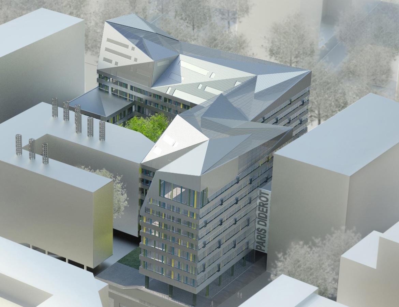 Construction of a university building – Paris